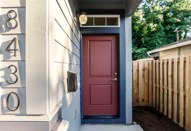 Skinny houses Front door
